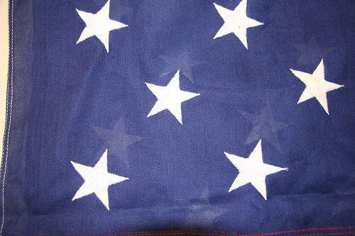 Cotton flags have a softer aspect