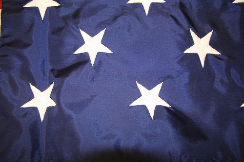 Nylon flags have a sheen.